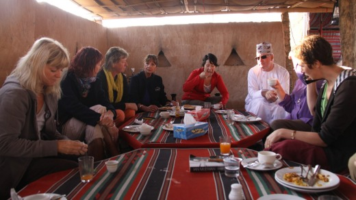 Group lunch at a Bedouin camp.