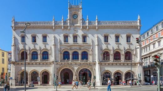 The Rossio Railway Station.