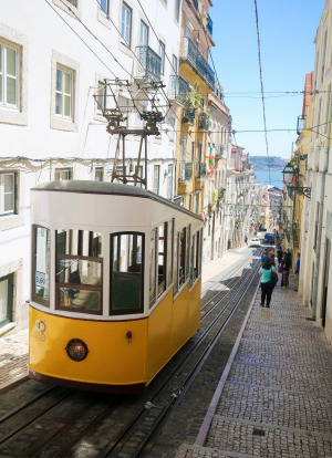 The Ascensor da Gloria in Bairro Alto.