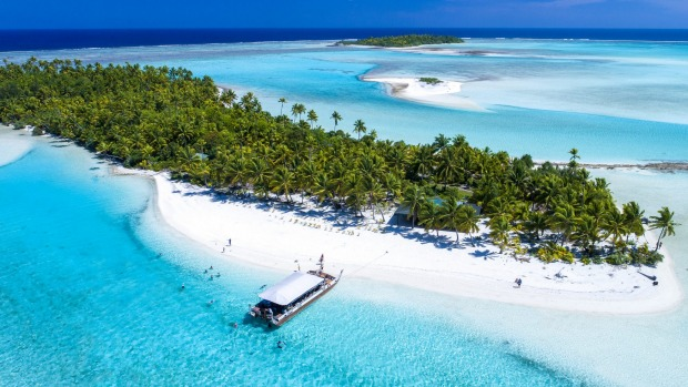 Aitutaki's lagoon is considered one of the most beautiful in the world.