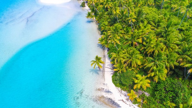 Aitutaki Lagoon in the Cook Islands was once a vital air link in the Coral Route across the Pacific.