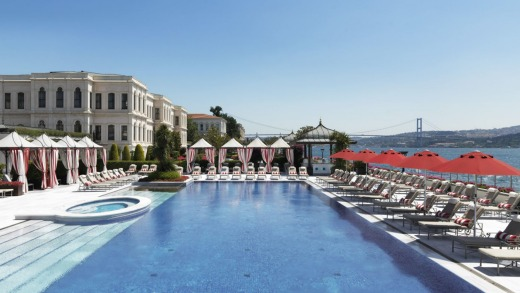 Four Seasons Hotel Istanbul at the Bosphorus is a tranquil retreat from Istanbul's tumult.