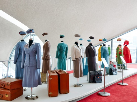 The hotel can feel a little like a Mad Men theme park, with its display of vintage airline uniforms and suitcases, its ...