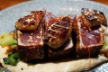 Favourite: Humuhumunukunukuapua'a makes seared Togarashi Ahi & Foie Gras with local hearts of palm, shiitake, bok choy, ...