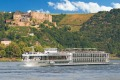 A Scenic river cruise ship sailing through Germany's Rhine river.