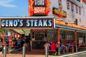 Geno's is one of the best places in Philly for a cheesesteak.