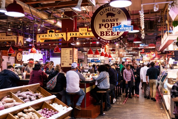 READING TERMINAL MARKET  All you can possibly want/need/eat under one historic roof, this vibrant, clattering, bustling ...