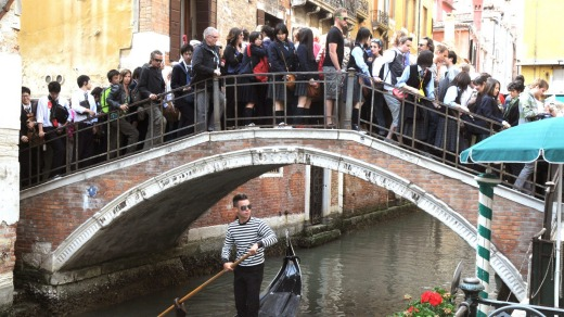 Over-crowded: Venice is one of many European cities already affected by overtourism.
