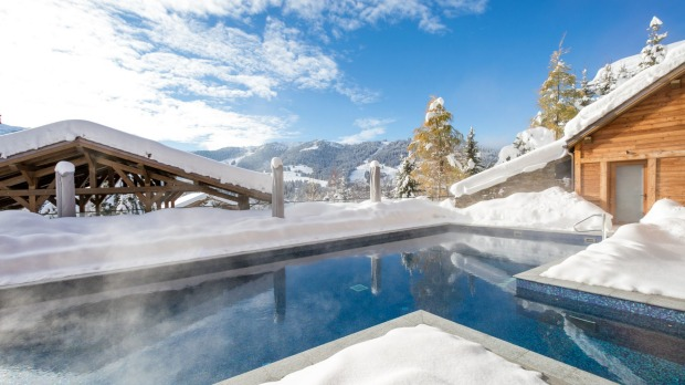 The spa at The Four Seasons Hotel Megeve, in the French Alps.
