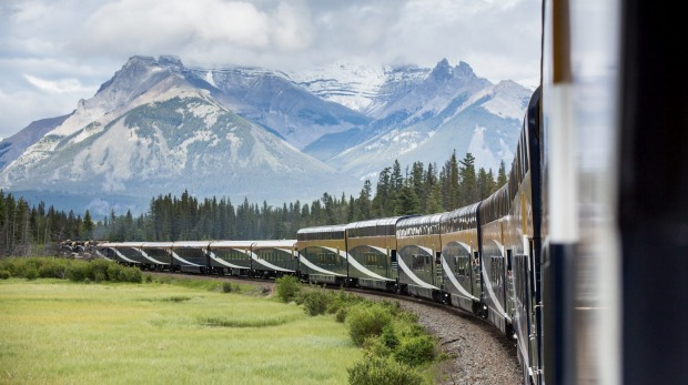 View of Canada's stunning landscape from The Rocky Mountaineer.