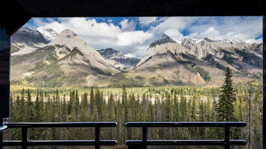 Viewing car on the Rocky Mountaineer.