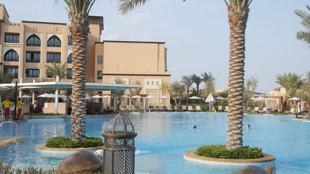 The pool at Saadiyat Rotana, Abu Dhabi.