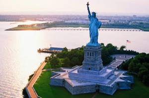 Liberty Island is just a short trip from Manhattan, New York City.