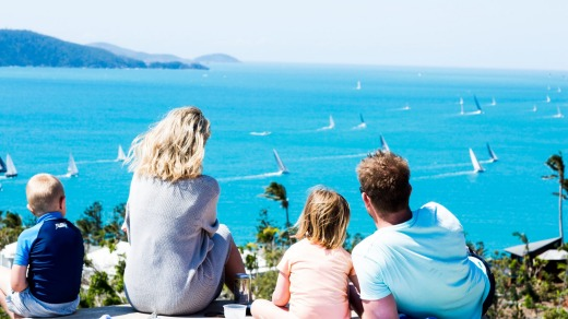 An elevated view of Hamilton Island Race Week.