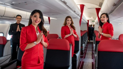 AirAsia's regular crew uniforms have been criticised.