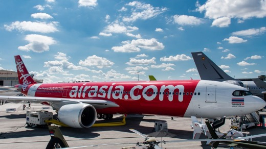 AirAsia at the Paris Airshow 2019 announcing new Airbus A330 planes