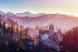 Bran Castle, known as 'Dracula's Castle'; the exterior of The Prince's Retreat.