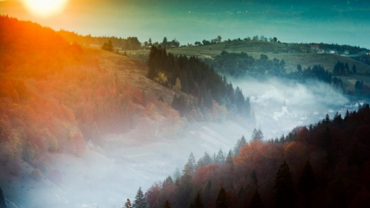 Autumn in the Carpathian Mountains.