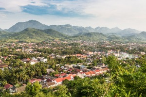 Luang Prabang lies along the Mekong River.