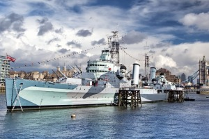 HMS Belfast warship is the British Royal Navy's last surviving cruiser and the largest preserved in Europe.