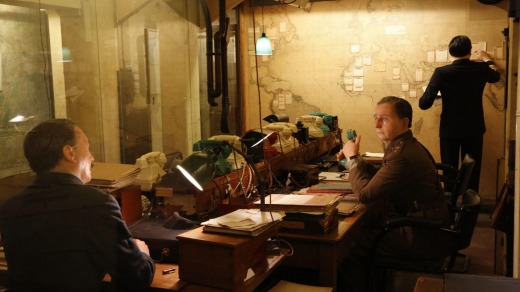 Inside the command centre of Winston Churchill during the Second World War: Churchill War Rooms, London.