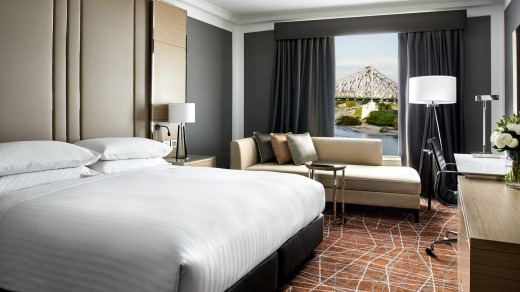 A room at the Marriott Brisbane.