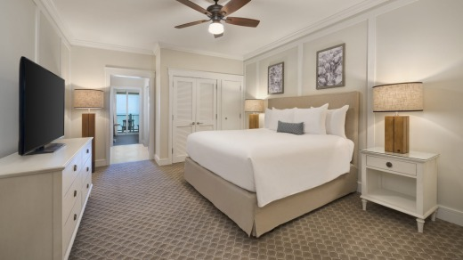 A guest room at the Jekyll Island Club Resort.