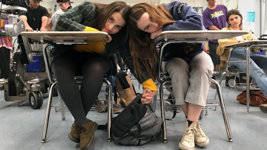 "Actors Beanie Feldstein and Kaitlyn Dever. ""It's ridiculous,"" said Dever, upon learning about the edits."
