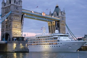 Silversea's Silver Wind in London.