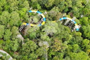 The 1140-metre waterslide will open at Penang's Escape theme park.