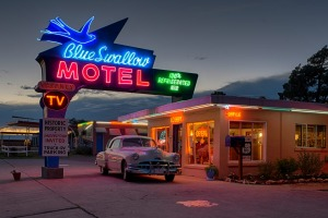 Blue Swallow Motel in Tucumcari, New Mexico.