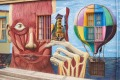 Colourful murals decorate the walls of buildings in the historic port city of Valparaiso in Chile.