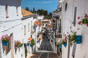 Mijas, arguably the prettiest of Andalucia's whitewashed towns and villages.
