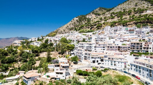 Impressive views from the town ofMijas.