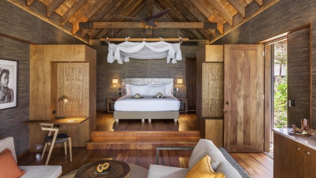 A one-bedroom villa at Six Senses Fiji.