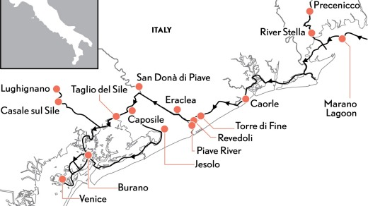 The system of canals between Precenicco and Venice.
