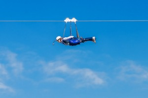 The zip line's fastest speed recorded was 120 kilometres per hour.