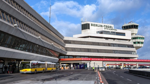 A view of the Tegel airport.