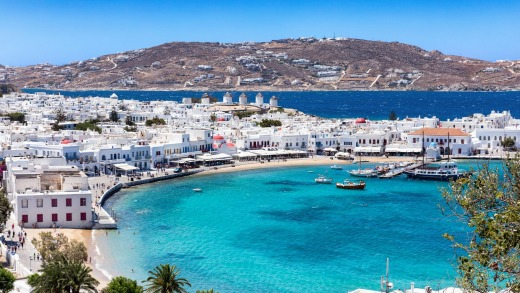 'Mykonos regains its balance during springtime.'
