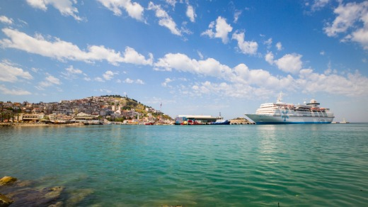 The Turkish port of Kusadasi (gateway to the ancient city of Ephesus).