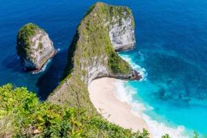 """Kelinging Beach on the island of Nusa Penida has gained prominence in recent years after appearing in multiple """"best ..."""