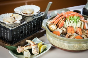 Hokkaido is renowned for its high-quality seafood, so head to the Crab Shack in the village.