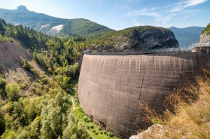 Beautiful view of memorial site at Vajont Dam, Veneto, Italy. iStock image for Traveller. Re-use permitted. Underrated ...