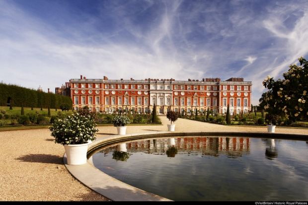 HAMPTON COURT PALACE: The classic view of Hampton Court from the River Thames today is of Christopher Wren's superb ...