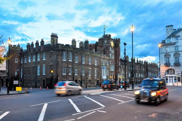 ST JAMES' PALACE: Alas, this is the one palace in London you can't visit (except by special invitation). It was ...