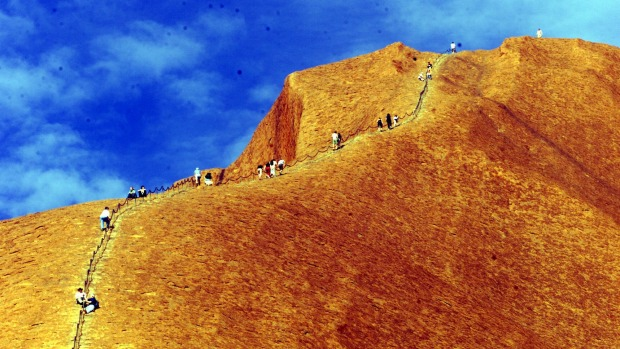 Climbers are flocking to Uluru before climbing is banned.