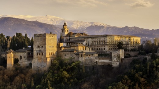 The Alhambra in Granada southern of Spain.