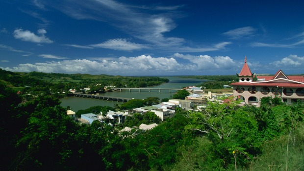 Sigatoka, gateway to the Coral Coast, at mouth of Sigatoka River, Viti Levu, Fiji.