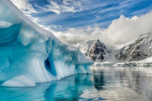 The icebergs of Antartica seem to generate their own light, pumping out a blue that looks almost artificial.