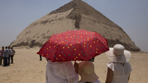 Tourists will now be able to clamber down a 79-metre narrow tunnel from a raised entrance on the pyramid's northern ...